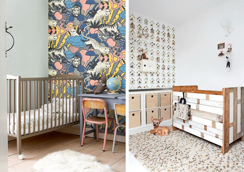 accent walls in nursery rooms