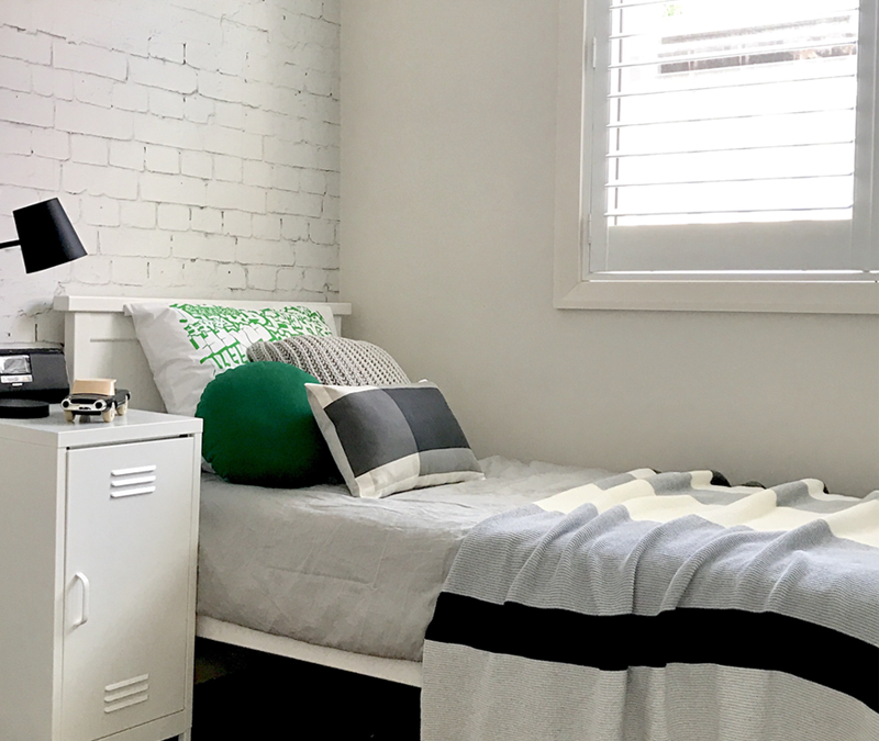JACK'S GREEN AND WHITE BOYS ROOM