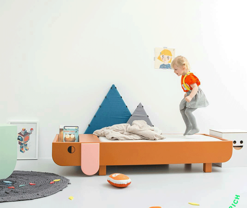 A KID'S BED THAT MAKES A STATEMENT
