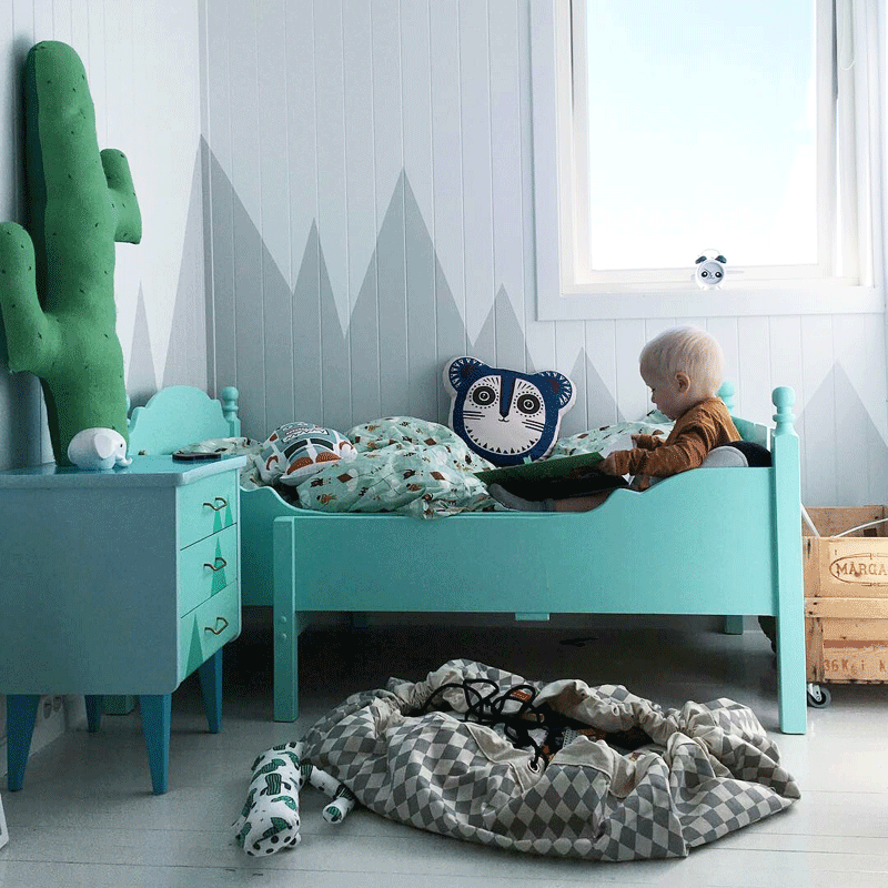 turquoise kids bed