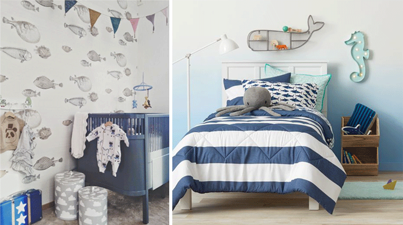 navy blue childrens rooms