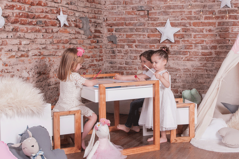 kids play table and desk
