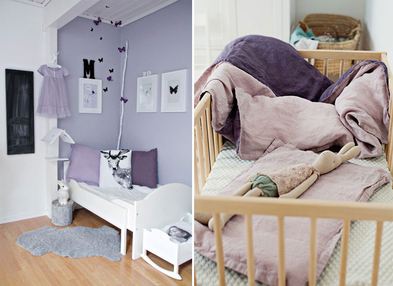 purple childrens rooms
