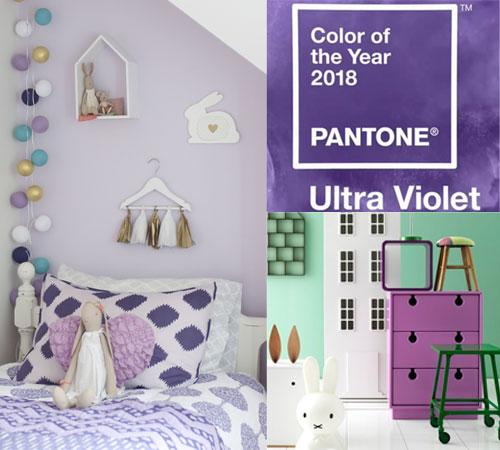 Pantones Colour of the Year 2018 Ultra Violet in Kids Rooms