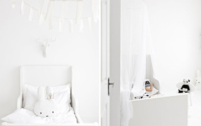 ALL-WHITE KIDS' ROOMS
