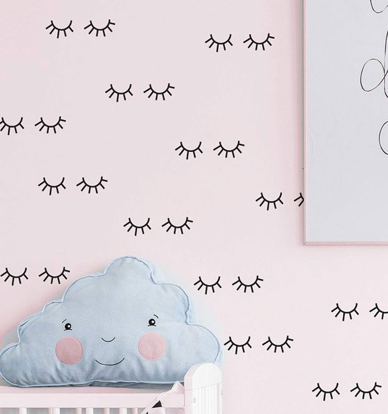 eye wall decals stickers