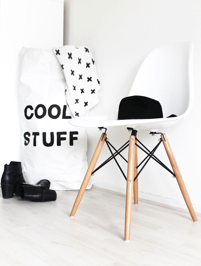 white eames kids dsw chair