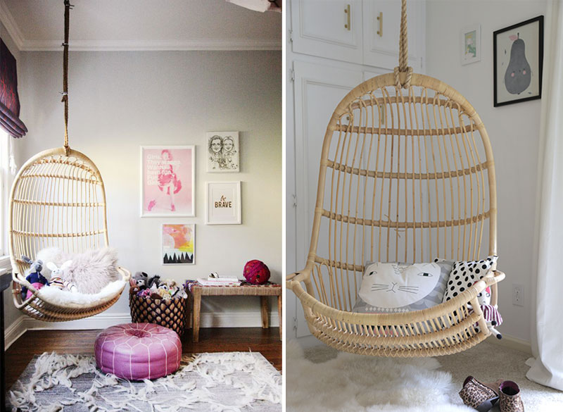 wicker rattan hanging chair