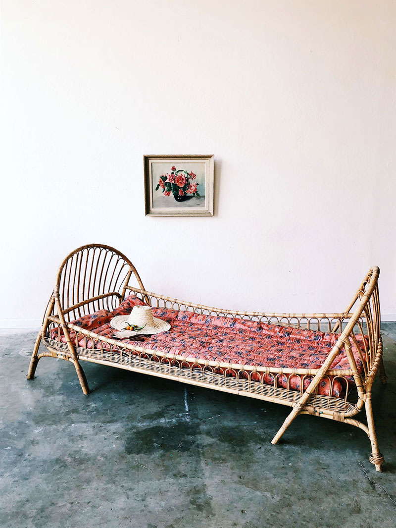 rattan childrens bed