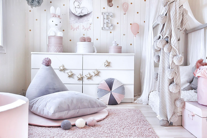 scandinavian style toddler room