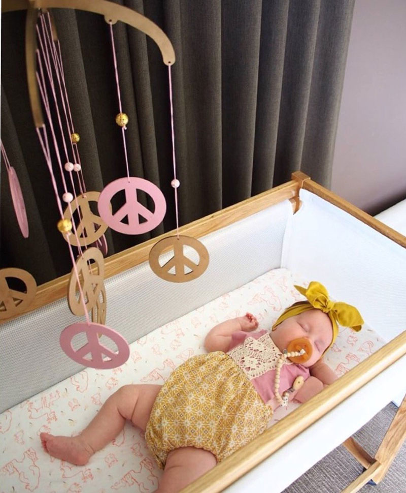 peace and love nursery mobile