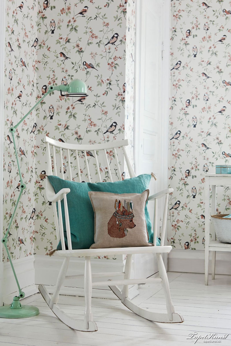 girly wallpaper with birds