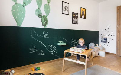 JJ'S COMBINED BED AND PLAY ROOM WITH CACTUS ACCENTS