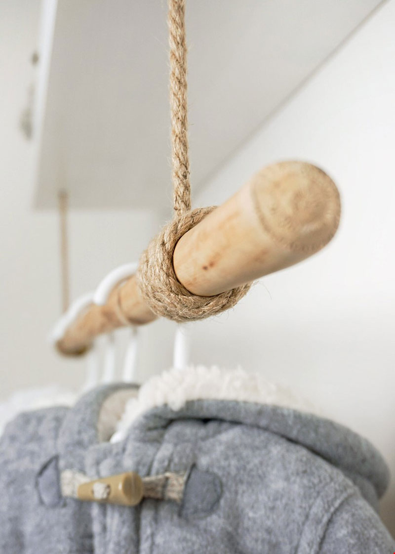 wooden pole for clothing rack