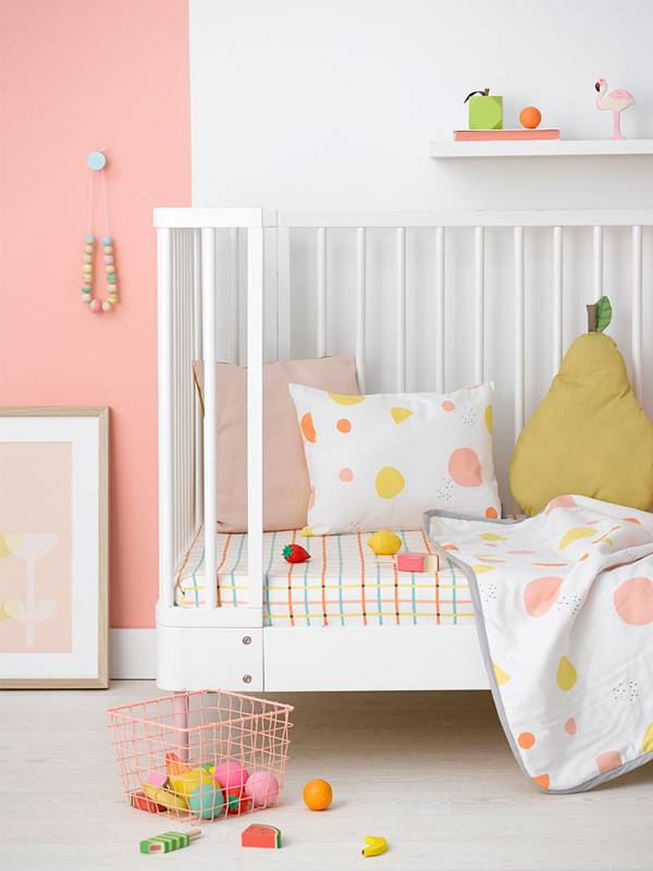 Some Crunchy Green Details And Bright Orange Adds The Perfect Touch To This Pastel Girls Room That Charlotte Love Styled For Olli Ella