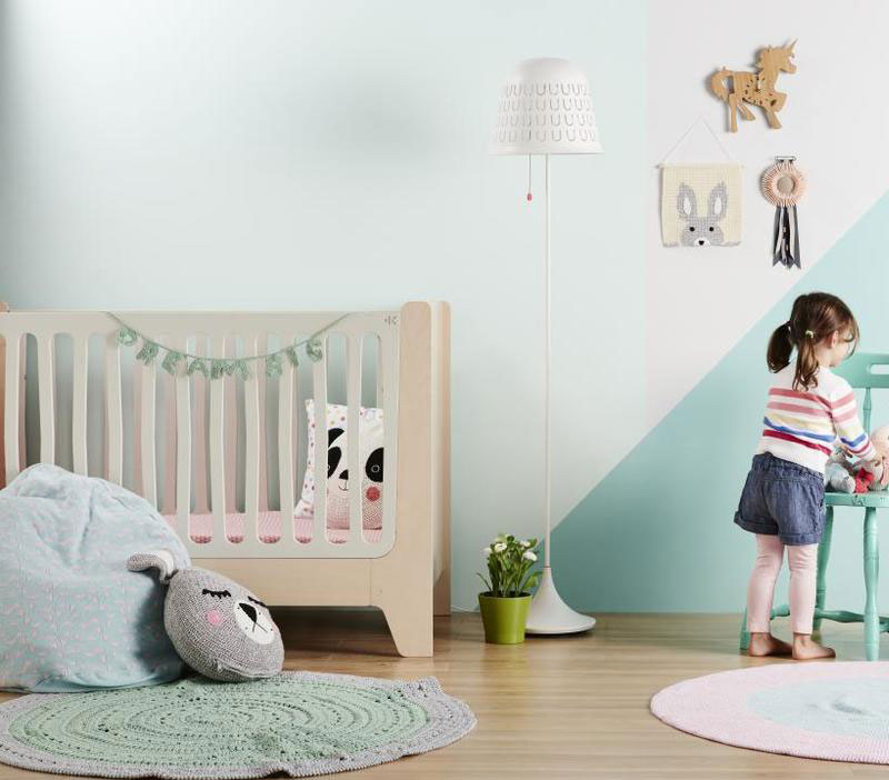 Pale Blue Colour For Girl Nursery Rooms