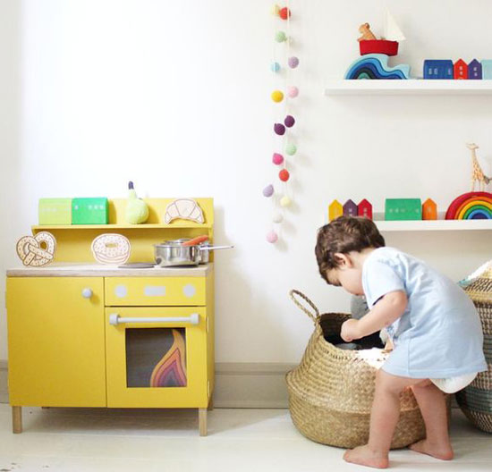 yellow playkitchen