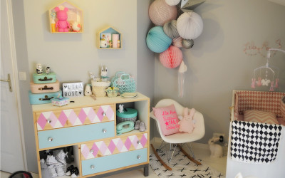 LILA ROSE'S PASTEL NURSERY WITH GRAPHIC DETAILS