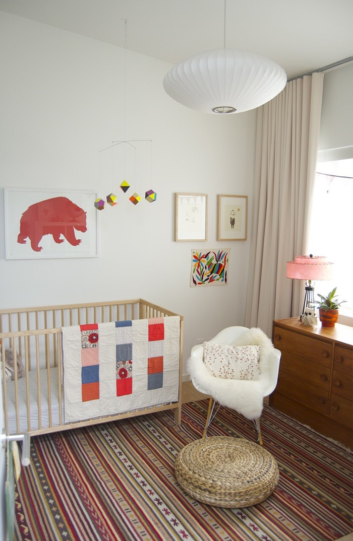 nursery with red