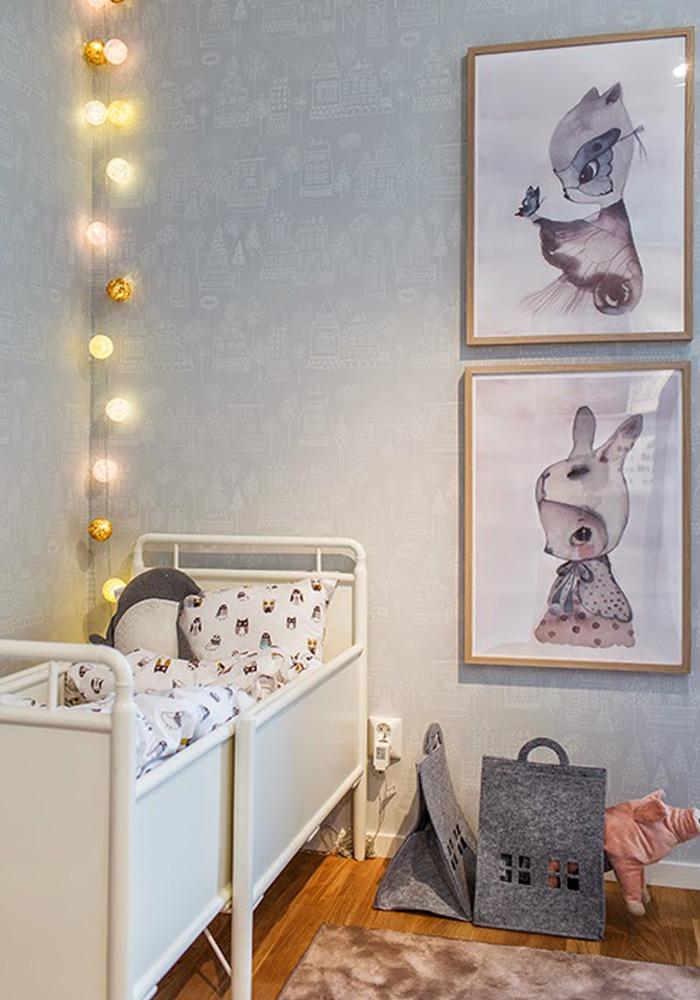 stringlight in nursery