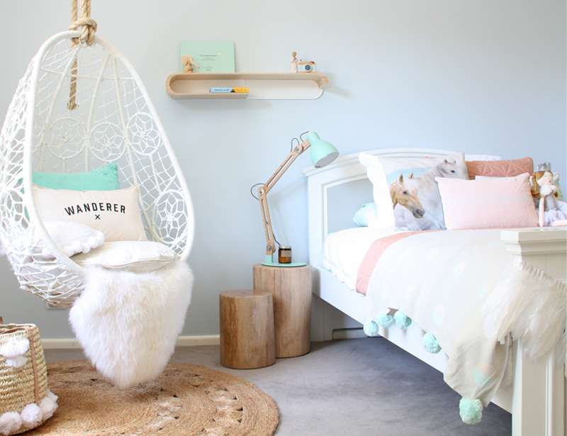 pale blue girls room