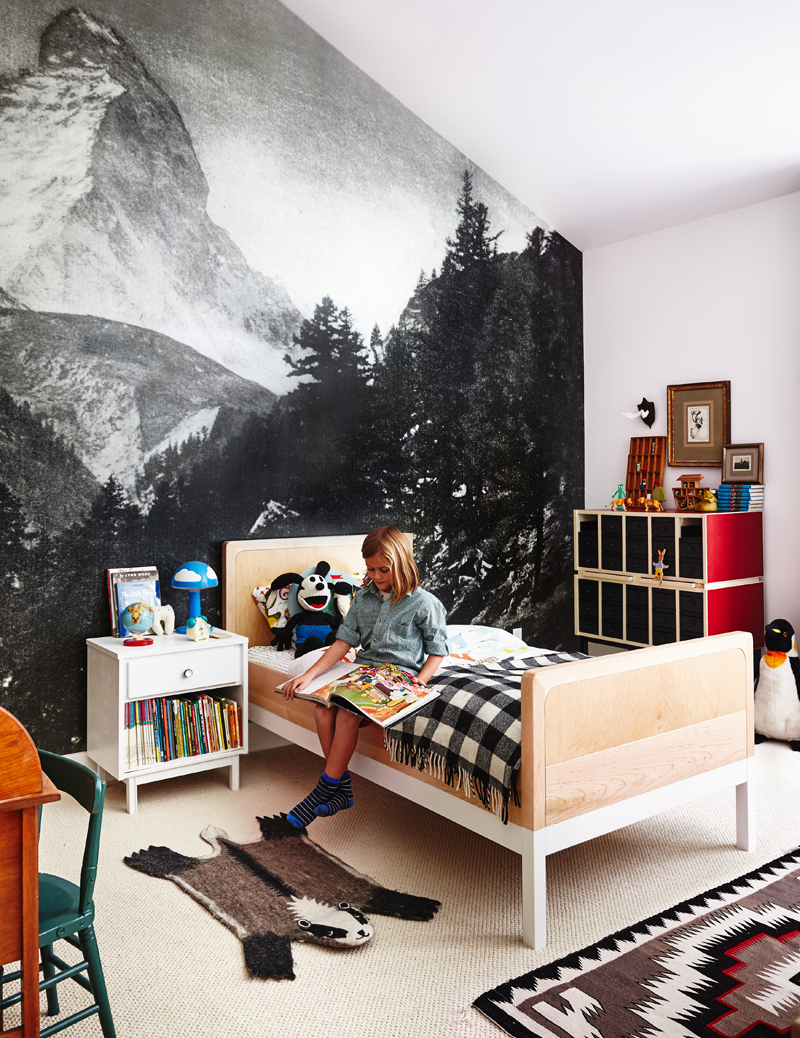 mountain forest kids room