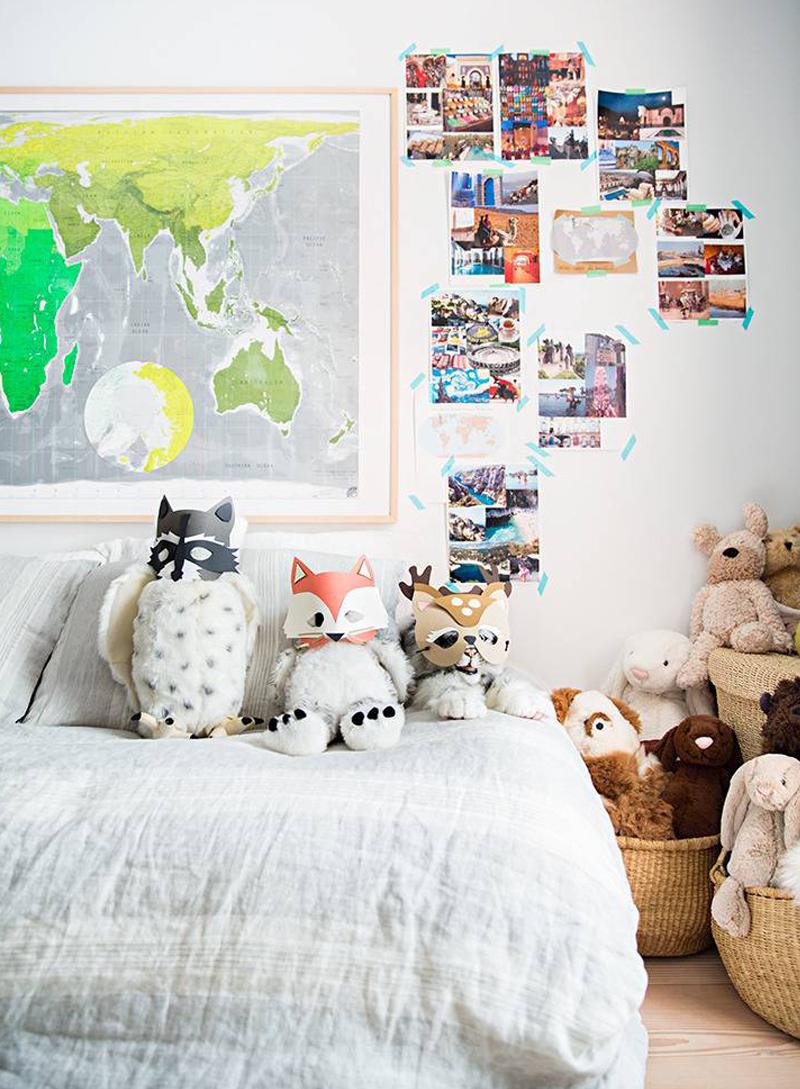 map in kids room