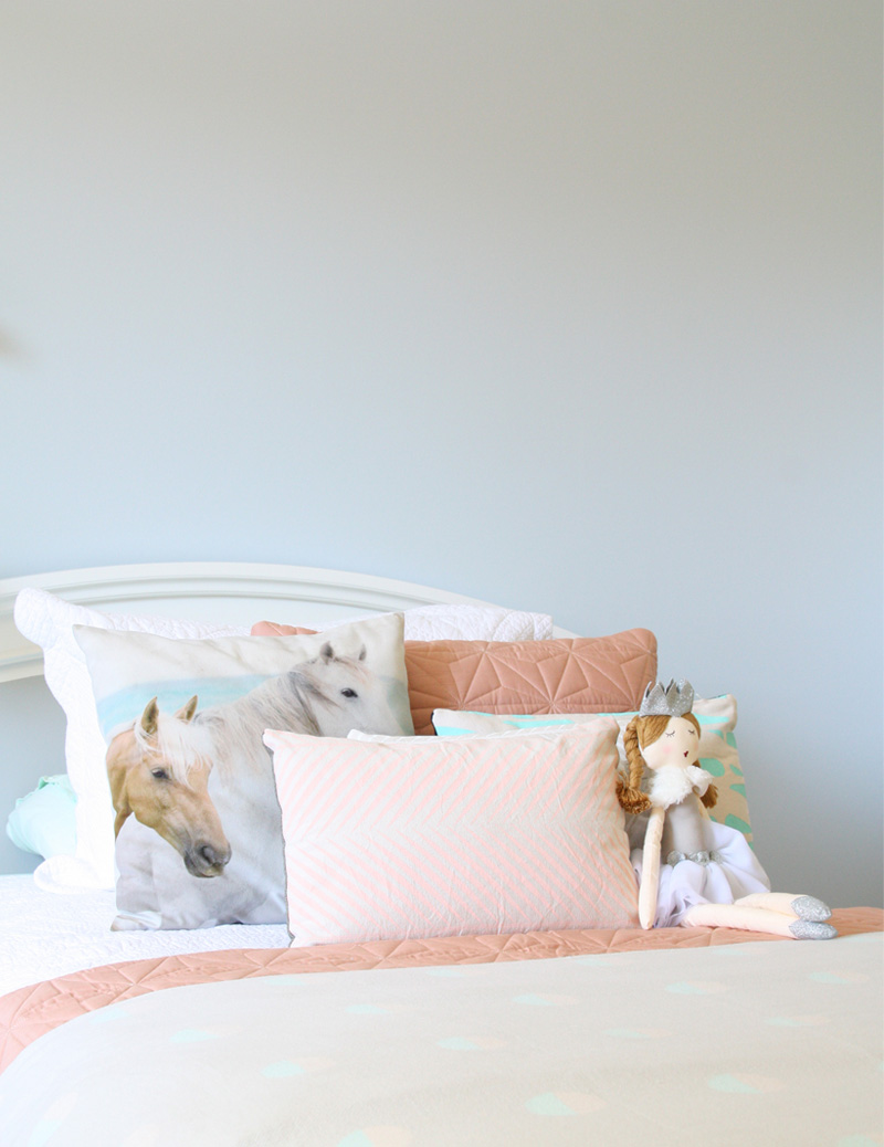 pony print pillows