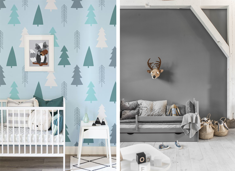 forest theme kids room