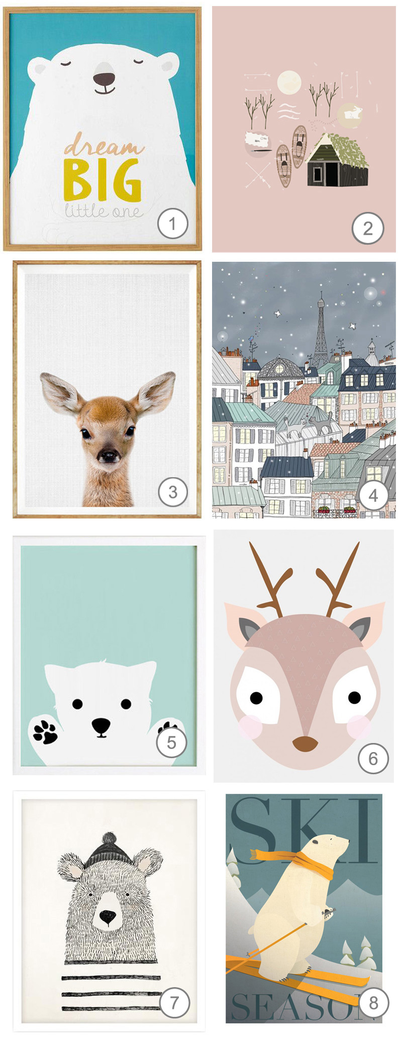 wintery kids posters
