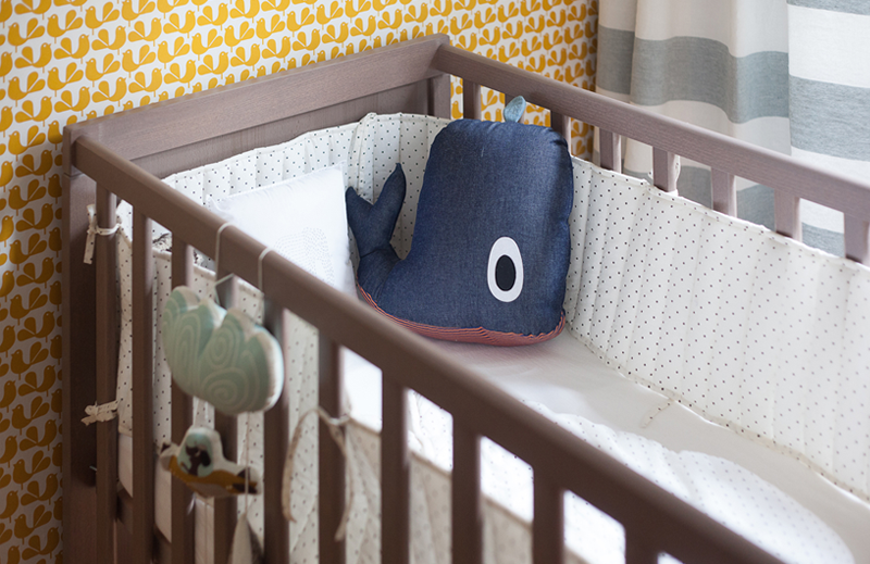 whale nursery cushion
