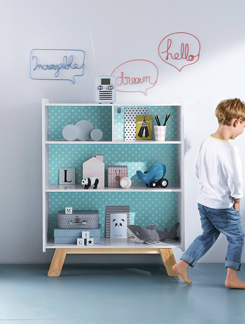 design shelf childrens room