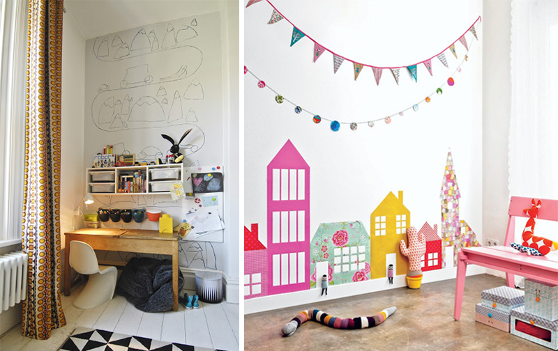 art on wall kids rooms