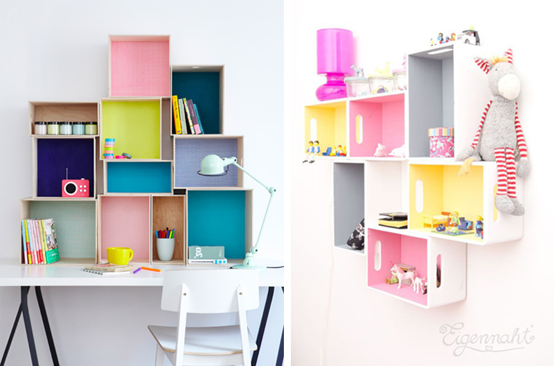 diy shelves kids rooms