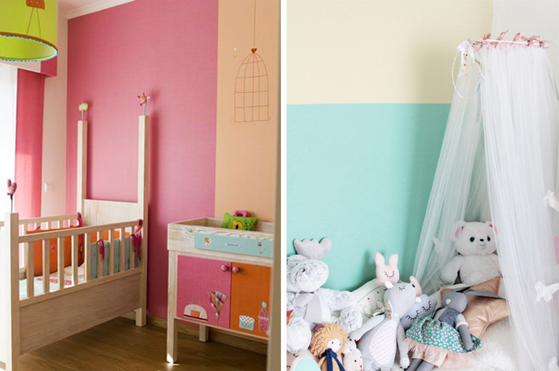 Two Tone Walls Nursery