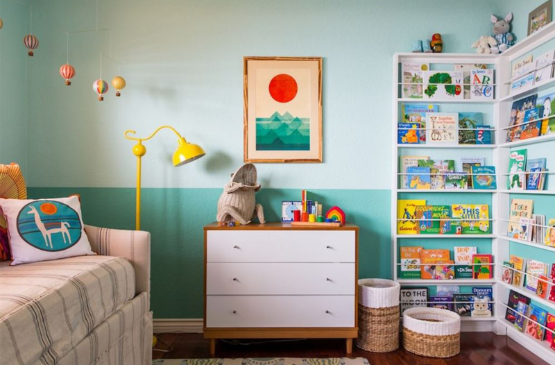 Two coloured wall kids room