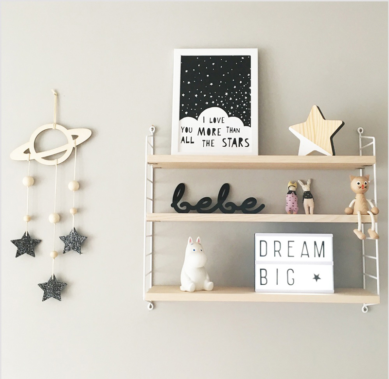 shelf decoration kids room