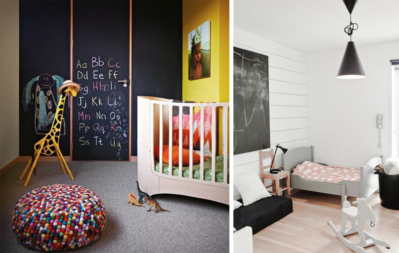 chalkboard wall kidsroom