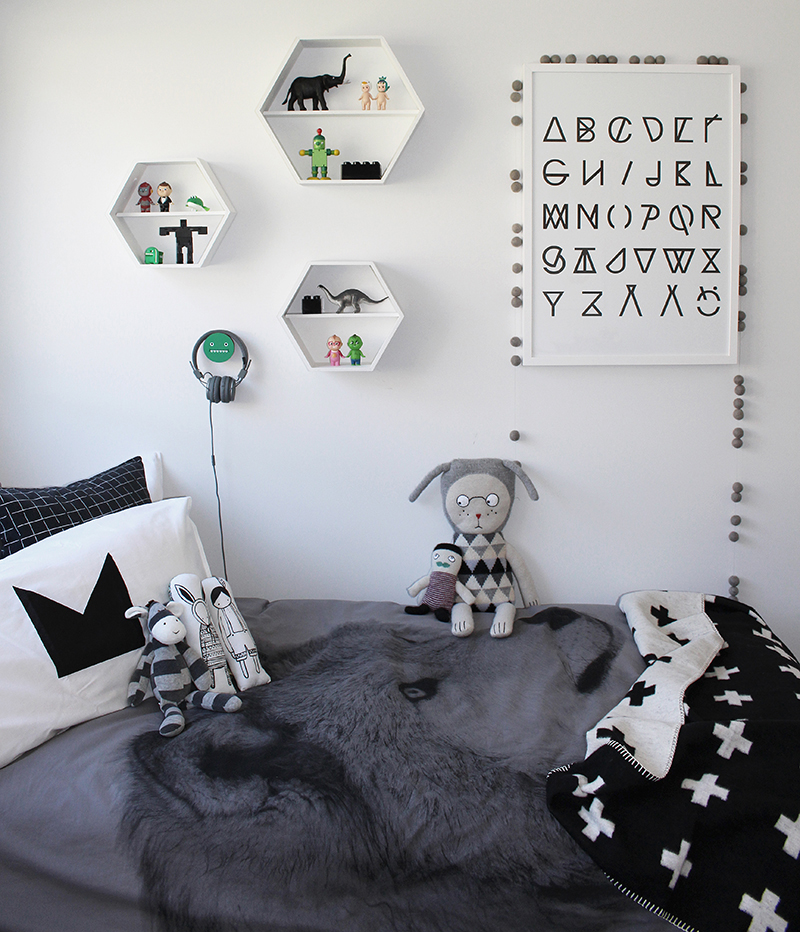 Hexagon Shelves Kids Room