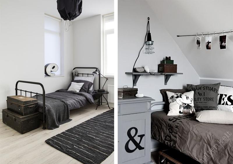 Dark Wood Bed Frame Room