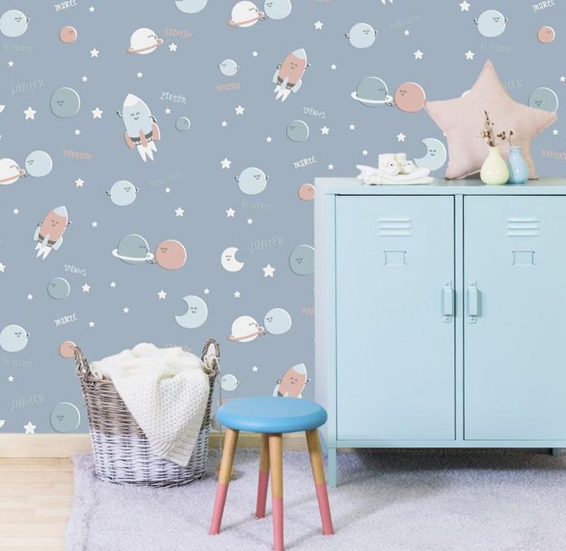 pale blue dresser kids room