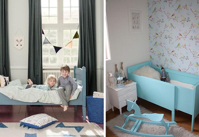 pale blue kids beds