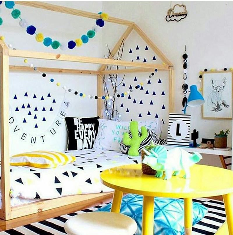 bright colourful kids room