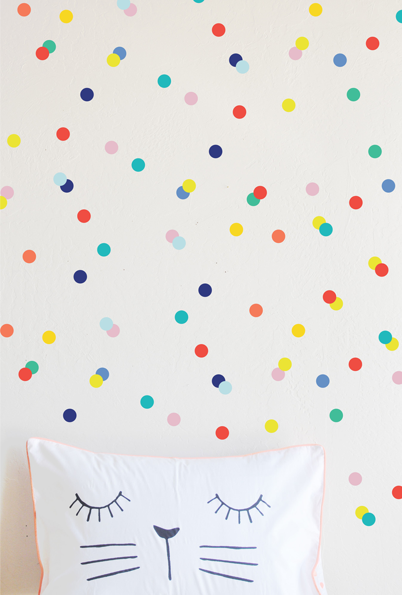 colourful dot decals