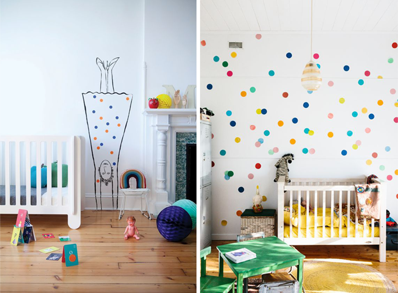 Marvelous Dot Decals Kids Room