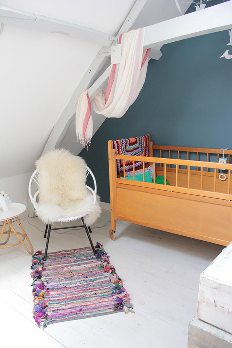 wooden vintage cot bed