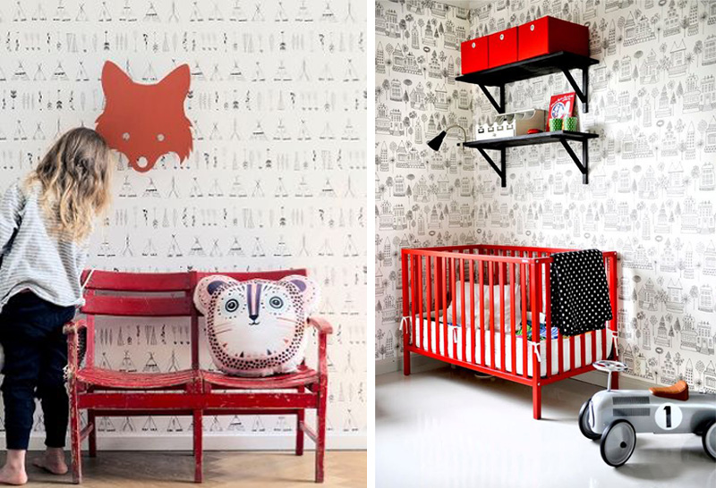 red kids furniture