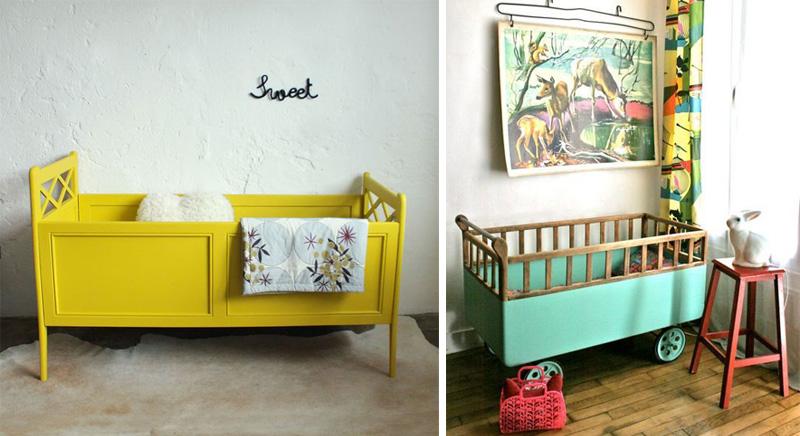 vintage nursery cots