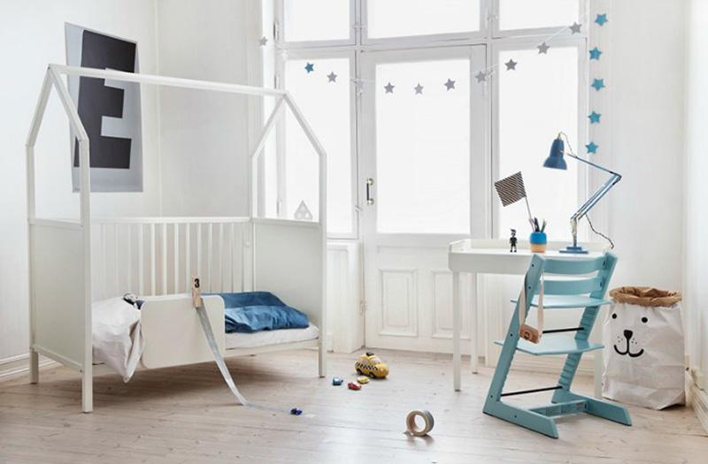 white housebed for children