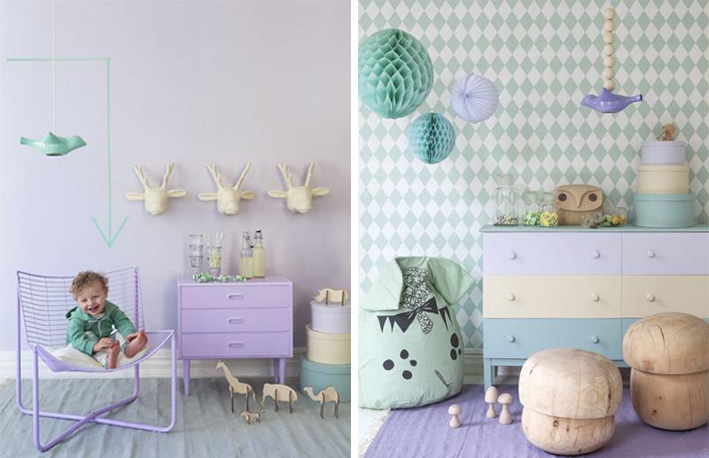 pastel violet furniture kids